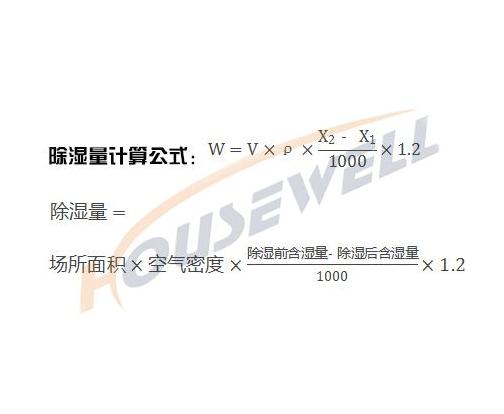 转轮式工业除湿机设备——除湿量的计算公式